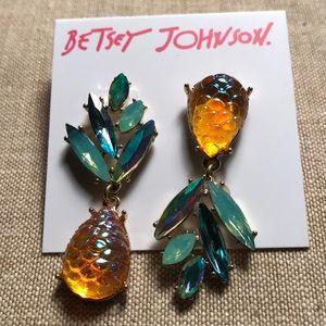 New Betsey Johnson Pineapple Earrings